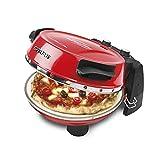G3Ferrari elektrischer Pizzaofen Napoletana, bis 400 Grad mit Naturstein – inkl. 2-ten Stein/Pizza und Fladen uvm. in 3 Minuten / G3 Ferrari die Nr. 1 der Pizzamaker/auch für Tisch und Garten